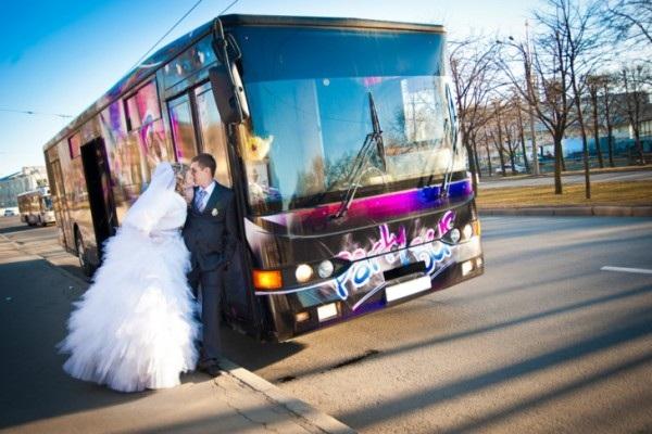 Автобус на свадьбу в Екатеринбурге